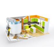 构思设计内部生动描述沙发 图库摄影
