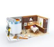 构思设计内部生动描述沙发 库存图片