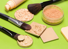 构成产品甚而肤色和脸色 免版税库存照片