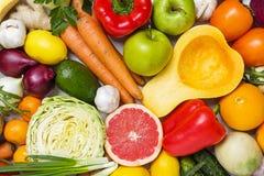 构成以蔬菜和水果品种  图库摄影