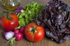 构成夏天蔬菜 库存照片