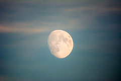 构成夜间月亮本质天空 库存照片
