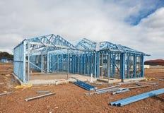 构成家庭新的建筑 免版税图库摄影