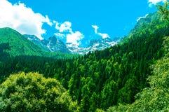 构成山自然范围阳光 库存图片