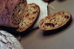构成用土气面包 免版税图库摄影