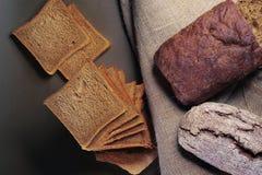 构成用土气面包 免版税库存照片