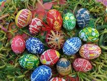 构成用复活节彩蛋 免版税图库摄影