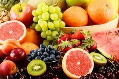 构成用被分类的果子 免版税库存图片