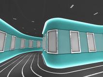 构成画廊现代照片银隧道 免版税库存图片