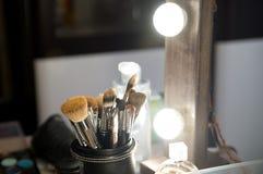 构成的刷子,化妆用品,专业工具 beauvoir 免版税图库摄影