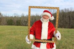 构成的圣诞老人 库存图片