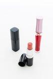 构成的小组装饰化妆用品。静物画 免版税库存图片