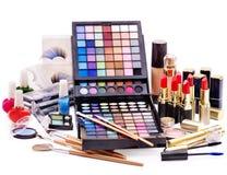 构成的装饰化妆用品。 免版税库存图片
