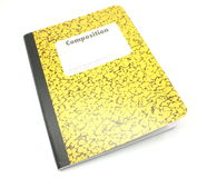 构成笔记本 免版税库存图片