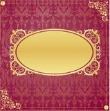 构成金子样式葡萄酒 皇族释放例证