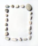 构成长方形的小卵石 免版税库存图片