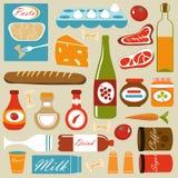 构成食物图标 免版税库存图片