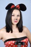 构成鼠标妇女 免版税库存图片