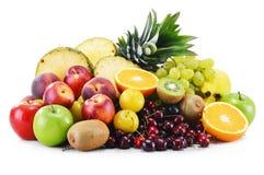 构成以新鲜水果品种  平衡饮食 库存图片