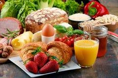 构成以有机食品产品品种  库存图片