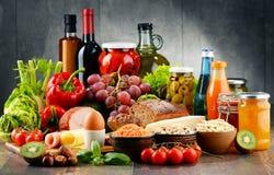构成以有机食品产品品种  图库摄影