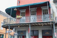 结构法国新奥尔良季度 免版税图库摄影