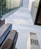 结构现代的曼哈顿 免版税库存照片