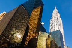 结构现代的曼哈顿 免版税图库摄影