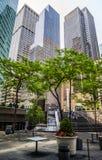 结构现代的曼哈顿 图库摄影