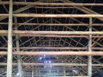 结构的内部看法为烘干烟草叶子使用了, Vinales 免版税库存图片