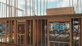 构筑在建造场所的木家摘要 股票视频