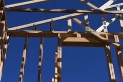 构筑在西南的新的家庭建筑 免版税图库摄影