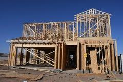 构筑在西南的新的家庭建筑 免版税库存图片
