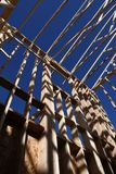 构筑在西南的新的家庭建筑 免版税库存照片