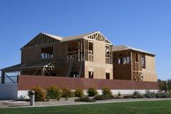 构筑在西南的新的家庭建筑 库存图片