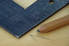 构筑正方形的木匠 库存图片
