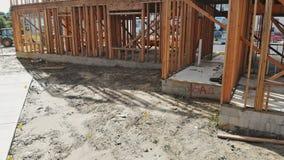 构筑的射线新房建设中家构筑 影视素材