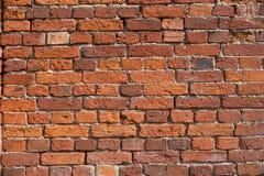 结构背景砖详细资料老红色纹理墙壁 免版税库存照片
