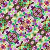 构造万花筒样式无缝与紫色绿色和黄色颜色,抽象样式 向量例证