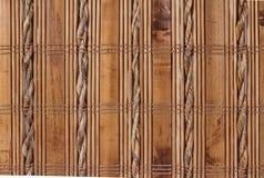 构造与织品编织的竹子 免版税库存图片