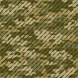 构造军事伪装重复物质设计的无缝的军队绿色狩猎 皇族释放例证