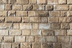 构造灰色大块砖墙壁户外 免版税库存图片