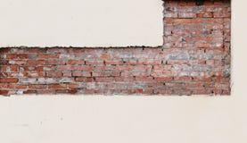 构造红砖和桃红色膏药,被对待以进一步修理的一种确实地几何形式 免版税库存图片