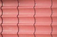 构造红色金属房屋板壁背景完成外部 库存图片
