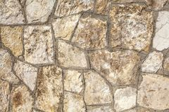 构造装饰砖,墙壁瓦片由自然石头制成 免版税图库摄影