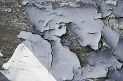 构造绿松石老概略的纹理表面上的削皮油漆背景  免版税库存图片