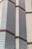 结构巴塞罗那详细资料玻璃现代办公室摩天大楼钢 免版税图库摄影