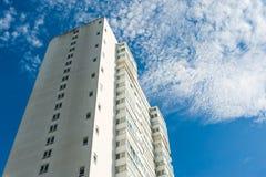 结构建立当代住宅西班牙样式的巴塞罗那 图库摄影