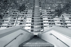 结构建立当代住宅西班牙样式的巴塞罗那 库存图片