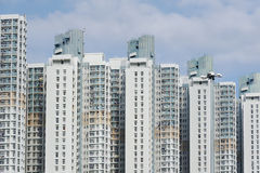 结构建立当代住宅西班牙样式的巴塞罗那 免版税库存图片